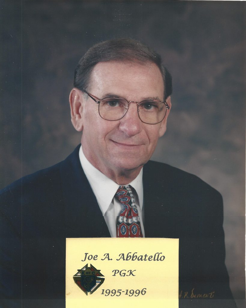 Joe Abbettello Jr as of his time as Grand Knight